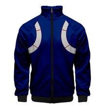 Baseball-Jackets Clothes-Stand-Collar Windbreaker Bomber Japanese Hero My Zipper Cosplay