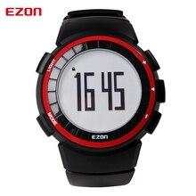 EZON спортивные часы водонепроницаемые часы электронные шагомер счетчик калорий часы Мужские Красный + Черный + Серебро Цифровые Наручные Часы