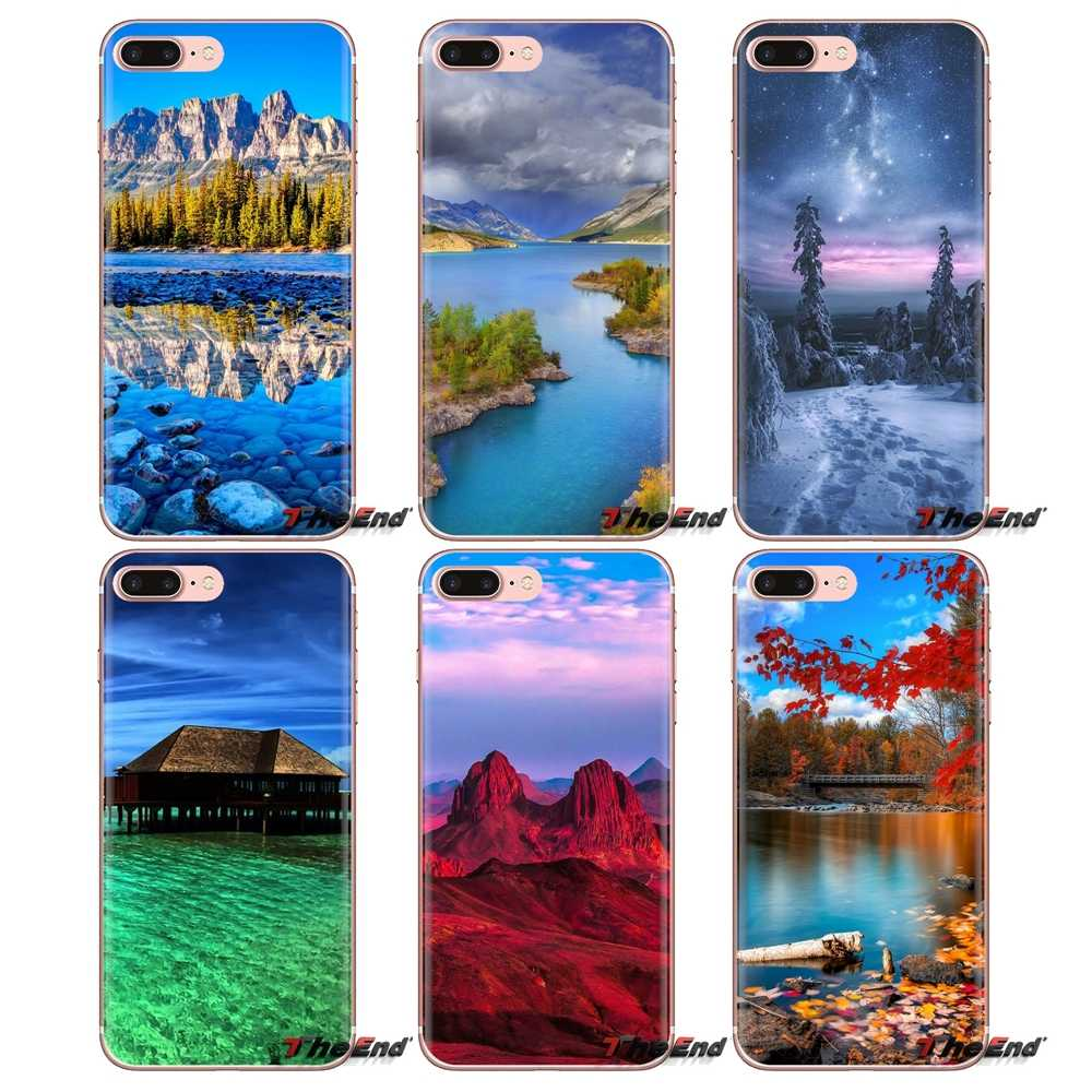 Silicone Phone Cover Bag Magnificent Nature Scenery Wallpaper For