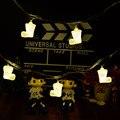 1 * Creativo 10Led Botas de Navidad Luz de la Secuencia, 1 M Guirnalda para Árbol de Navidad de La Decoración Del Led, Holiday Led Luz de la Secuencia