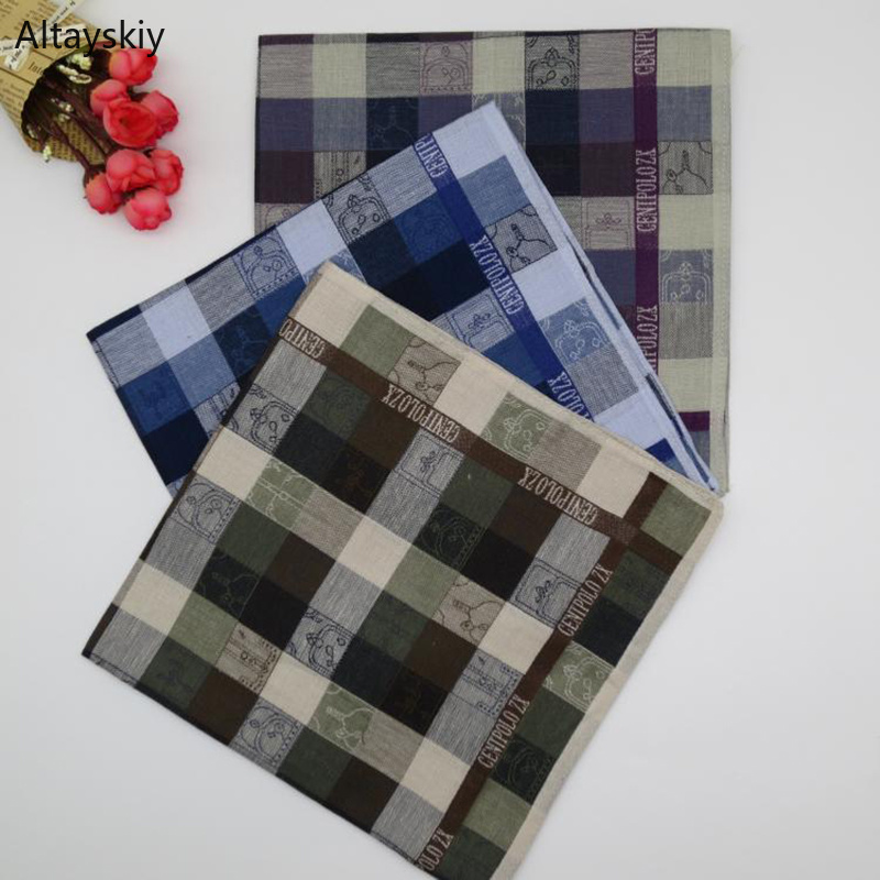 Handkerchiefs Women Plaid Printed Cotton Soft Thin Summer Womens Handkerchief Simple Leisure All-match Ladies Elegant Trendy New