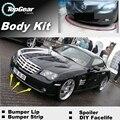 Spoiler Delantero Bompereta Deflector de Labios Para Chrysler Crossfire Falda para TopGear Fans Ver Coches Tuning/Kit de Carrocería/tira