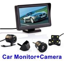4.3 Pulgadas Sistema de Aparcamiento Automático HD de Coches Espejo Retrovisor con 170 Grados Impermeable de visión trasera cámara