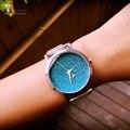 Дамы подарок новый стиль часы Enmex креативный дизайн звезд в ночном небе простое лицо стальной ленты кварцевые моды наручные часы