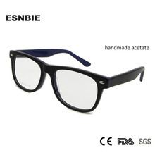 ESNBIE Eyeglasses Woman Frame Handmade Acetate Myopia Glasses Men Prescription Vintage Rivet Male Nerd Vision