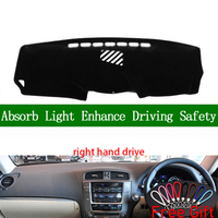 For lexus IS250 IS300 IS350 2006 2007 2008 2009 2010 2011 Right Hand Dashboard Cover Car Stickers Dash Mat Interior Accessories