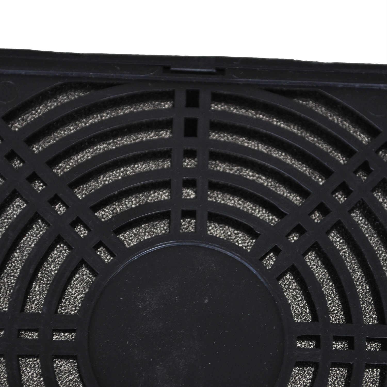 12 قطعة مسامير 120 مللي متر مروحة الغبار تصفية الغبار شاشة PC وحدة معالجة خارجية للحاسوب شبكة PC حالة مروحة الغبار الإسفنج تصفية الأسود