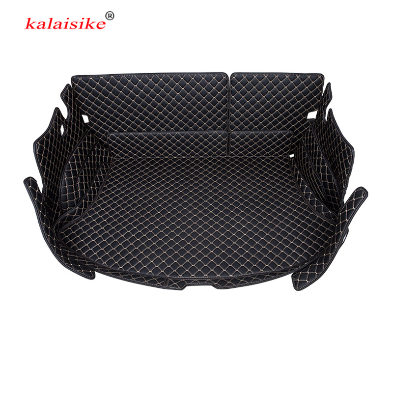 kalaisike Custom car trunk mats for Peugeo all models 301 3008 2008 4008 5008 408 308 508 auto styling accessories
