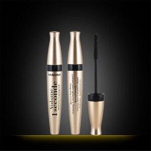 Image 5 - 4D fiber silk mascara waterproof natural thick curl eyelash silicone brush head professional makeup mascara
