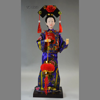 Free Shipping Beijing Silk Figurines Toys Qing Dynasty Princess Figures Car Home Decoration Party Supply Tourist
