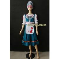 High Quality Adult or Children Russian Traditional Folk Dance Dress With Headwear Head,International Stage Skirt HF868