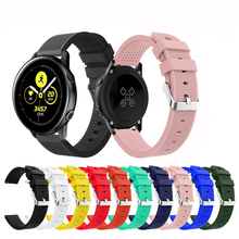 20MM Silicone Outdoor Sport Band For Samsung Galaxy Watch Active 42mm S2 Rubber Replacement Strap
