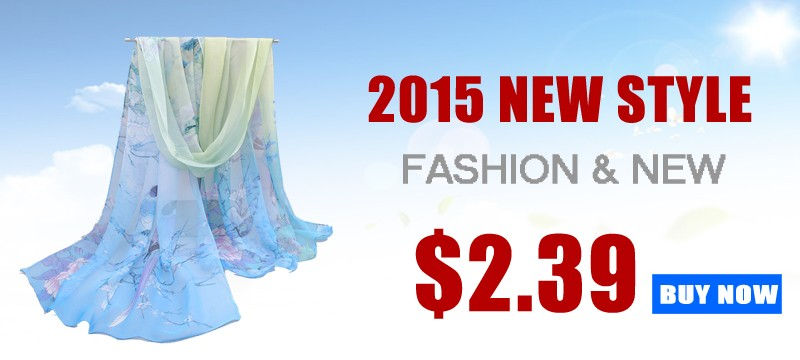 spring and summer women scarf 2015 new pashmina shawl printed cape silk chiffon tippet muffler