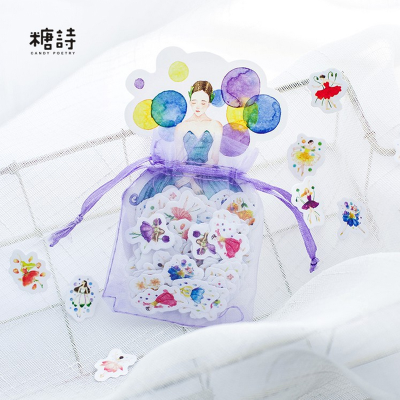 100 pcs/lot Young Girl mini paper sticker DIY diary decoration sticker for planner album scrapbooking kawaii stationery