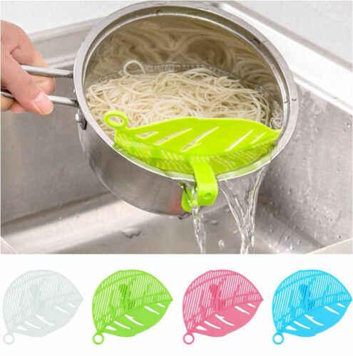 Practial Lucu Plastik Dapur Beras Cuci Membersihkan Dapur Gadget Multi Fungsional Buah Sayuran Mie Filter Baffle