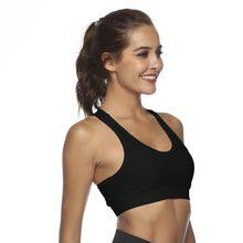 4436185391ef7 Sports Bra Back Pockets Design Shockproof Yoga Running Seamless Push Up  Vest Tanks Comfortable Running Tops