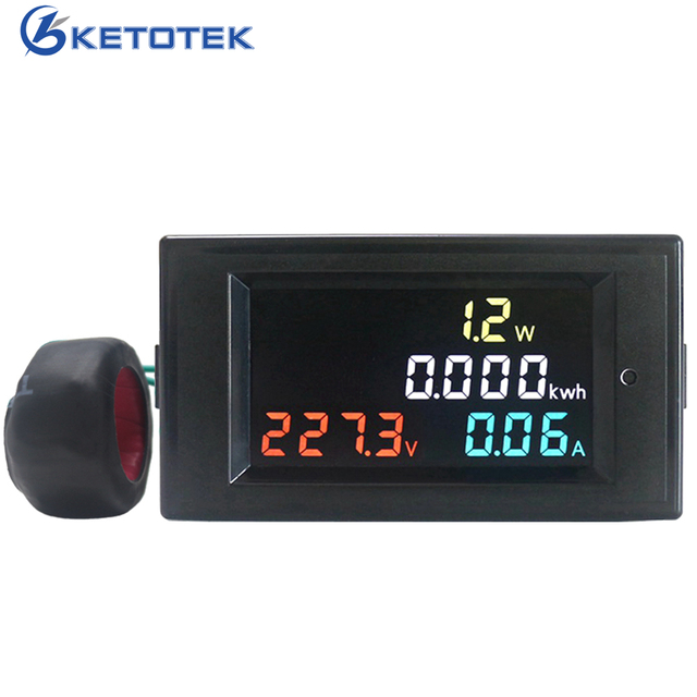 4 в 1 вольтметр переменного тока Амперметр Мощность энергии метр AC 80,0-300,0 В/AC200.0-450.0 V 0,01-100AHD Цвет Экран 180 градусов безупречный светодио дный