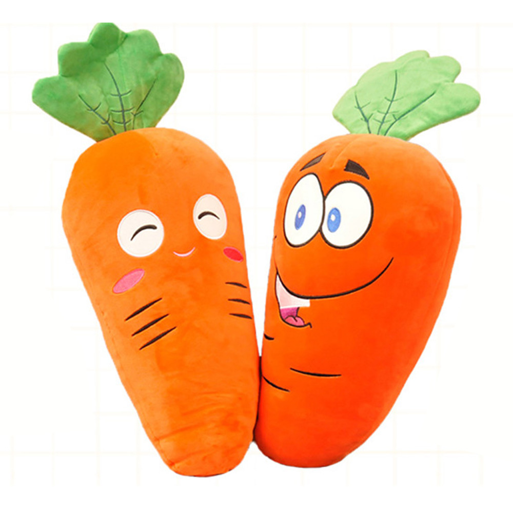 Fancytrader Stuffed Vegetables Carrot Plush Toy Big Soft Amime Smilling Cartoon Cartoon Carrots Pillow Doll 80cm 31inch
