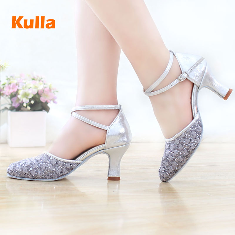 2017 New Ladies Latin Dance Shoes High heeled ballroom Tango Tap Salsa Dancing Shoes For Women