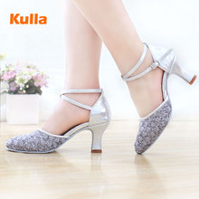 2017 New Ladies Latin Dance Shoes High-heeled ballroom Tango Tap Salsa Dancing Shoes For Women Zapatos De Baile Latino Mujer