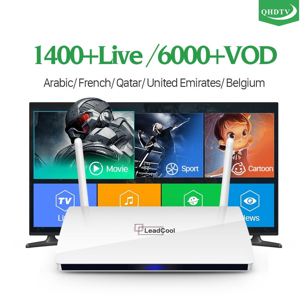Leadcool IPTV Frankreich Android Arabisch Box TV Empfänger Rk3229 Quad-Core Leadcool QHDTV IPTV Abonnement box Belgien Frankreich IP TV