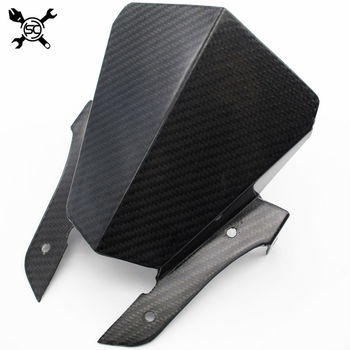 Free Shipping Carbon Fibre Motorcycle Windshield WindScreen Visor Viser Fit For YAMAHA MT-07 MT07 FZ07 2013 2014 2015 2016