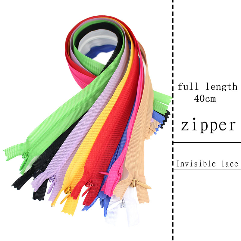 "25 Pcs 11/"" To 22/""Invisible Zippers Assorted Color ~"