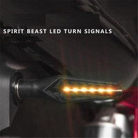 SPIRIT BEAST Motorcycle Signal Lights Steering Lights Modified Accessories SSports Car LED Turn Signal Scooter Driving