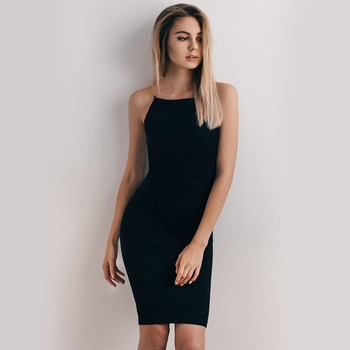 Women Sleeveless Knee-Length Party Dress