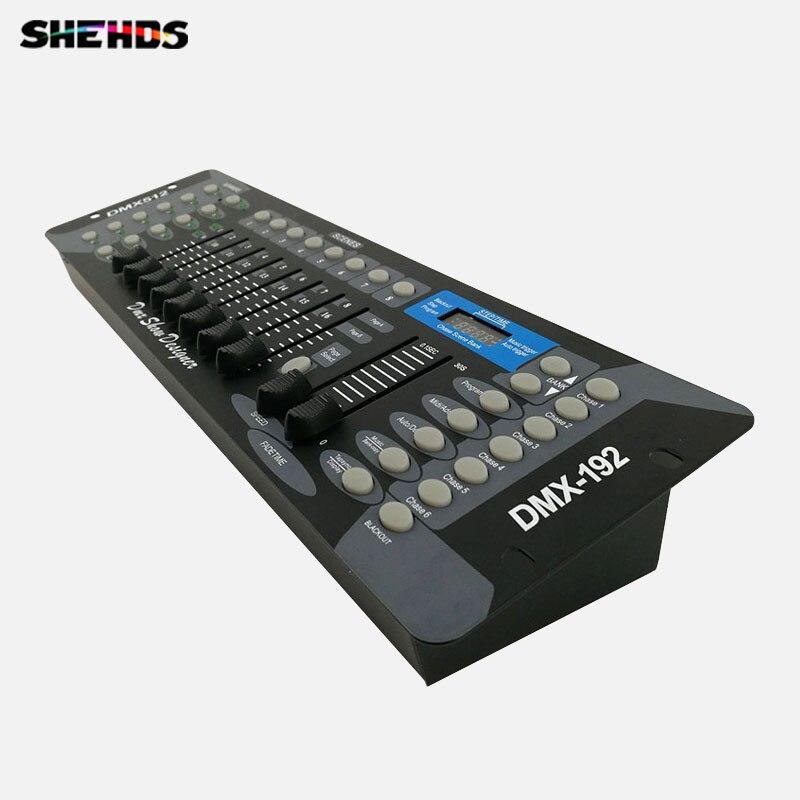 Envío Gratis nuevo 192 DMX controlador de iluminación de escenario equipos de DJ DMX consola para LED Par cabeza focos DJ controlador