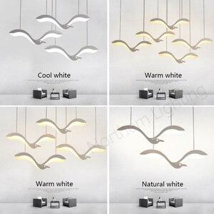 Image 5 - Luminária suspensa com led criatividade moderna, lustre para sala de jantar, cozinha, mesa de suspensão, luminária suspensa