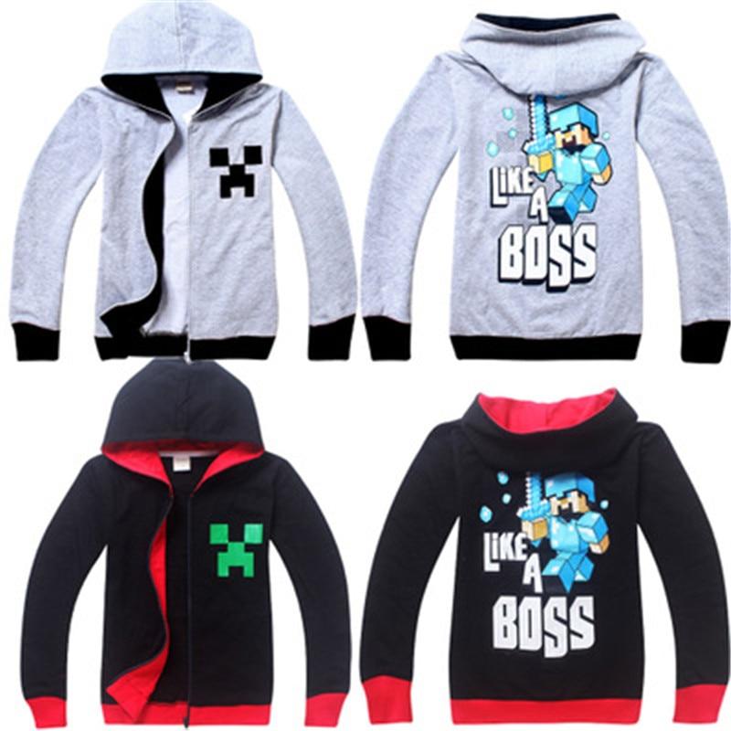 My World costume cosplay Cartoon T-Shirts Boys Girls Clothing Long Sleeves Jackets Coats Spring Kids Sweatshirts Hoodies