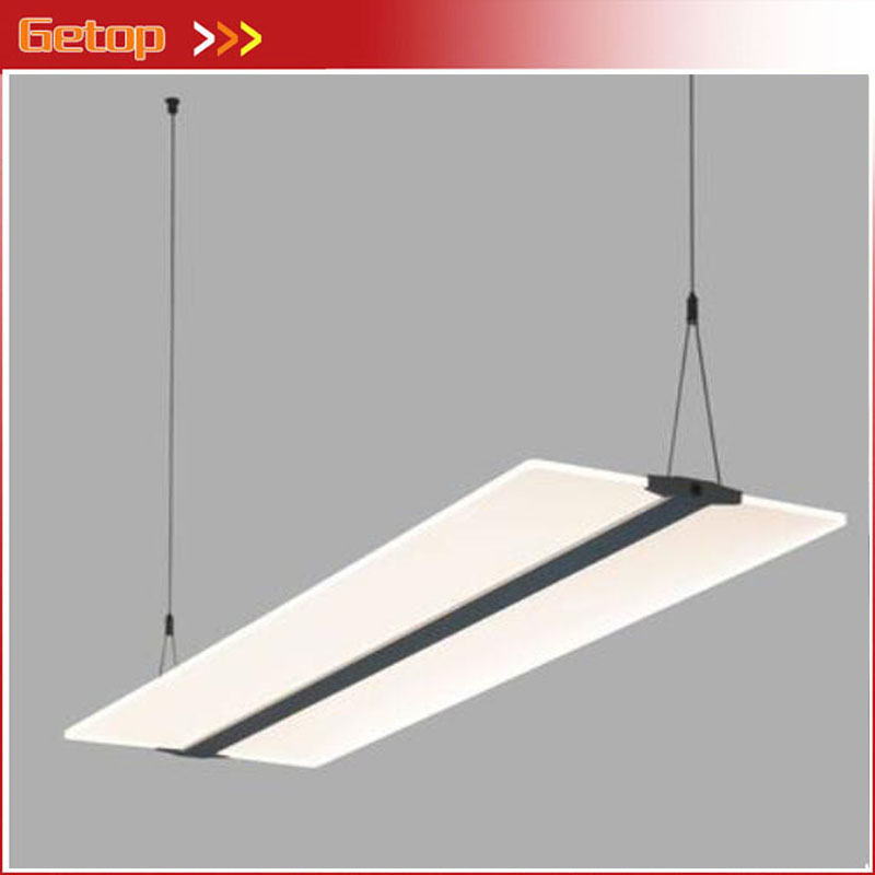 ZX Modern Transparent Acryl LED Pendant Lamp Rectangle Simple 4 Colors Temperature Lights Fixture for Office Restaurant Study zx modern round acryl pendant lamp simple restaurant led chip droplight single head study bar shop office lamp free shipping