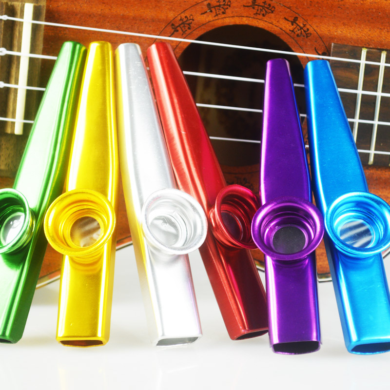Aluminium Alloy Metal Kazoo dengan Flute Diaphragm Gift for Kids Guitar Ukulele Accessories Music Pencinta 4 Warna
