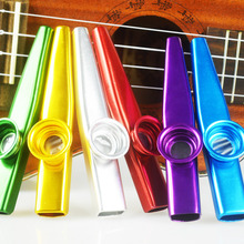 Aluminum Alloy Metal Kazoo with Flute Diaphragm Gift for Kids Guitar Ukulele Accessories Music Lovers 4 Colors