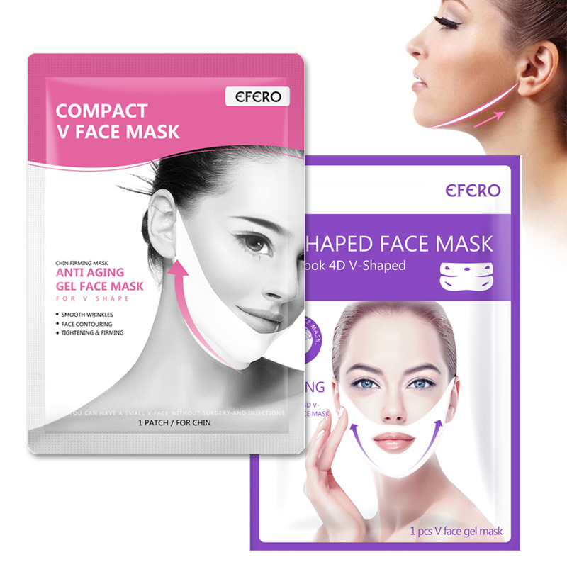 1/2/3pcs Double V Face Shape Tension Firming Slimming Mask Eliminate Edema Face Chin Cheek Lift Up Firming Thin Face Care Tool
