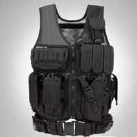 Men Hunting Vest Airsoft Military Molle Combat Assault Plate Carrier CS Outdoor Jungle CS Vests