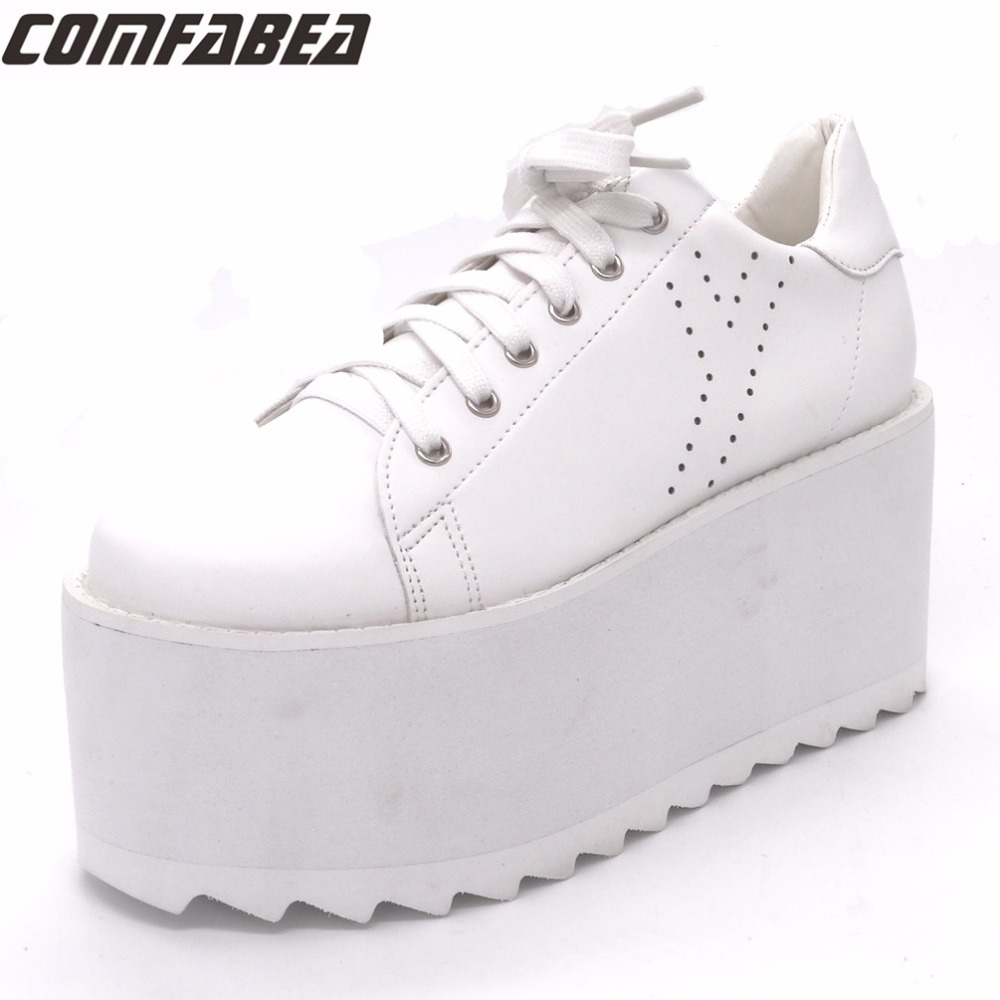 Spring Autumn Platform Shoes Women Creepers Shoe for Woman Casual Shoes Womens Superstar Shoe 2018 New Fashion Black White phyanic 2017 gladiator sandals gold silver shoes woman summer platform wedges glitters creepers casual women shoes phy3323