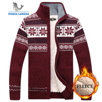 Men Velvet Sweatercoat Winter pattern style Wool Cardigan Male Casual Thicken Warm fleece Sweater for Man Hombre size M 3XL