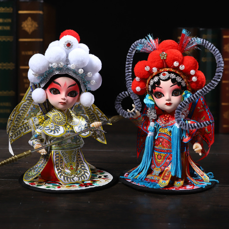 Tangrenfang Doll Peking Opera Doll Chinese Characteristics Folk Crafts Ornaments Abroad Gifts Beijing Juanren for Children image