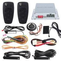 Lock Unlock PKE Car Alarm System Touch Password Entry Push Button Start Remote Engine Start Stop
