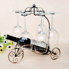 custom new tank wine rack hanging Cup European iron frame Wine heightening the original design can be disassembled
