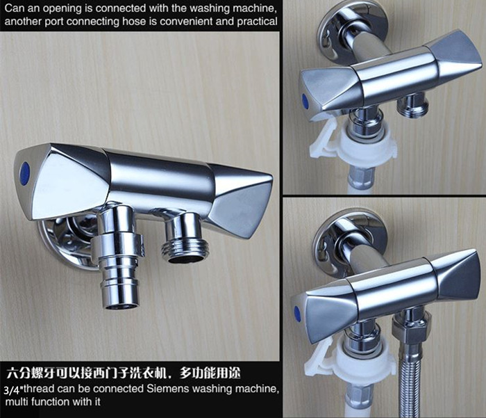 shower head that connects to faucet. Brass Bathroom Accessories Double Outlet Outdoor Garden Faucet For Shower  Head Toilet Sink Basin Water Heater Angle Valve In Bidet Faucets From Home