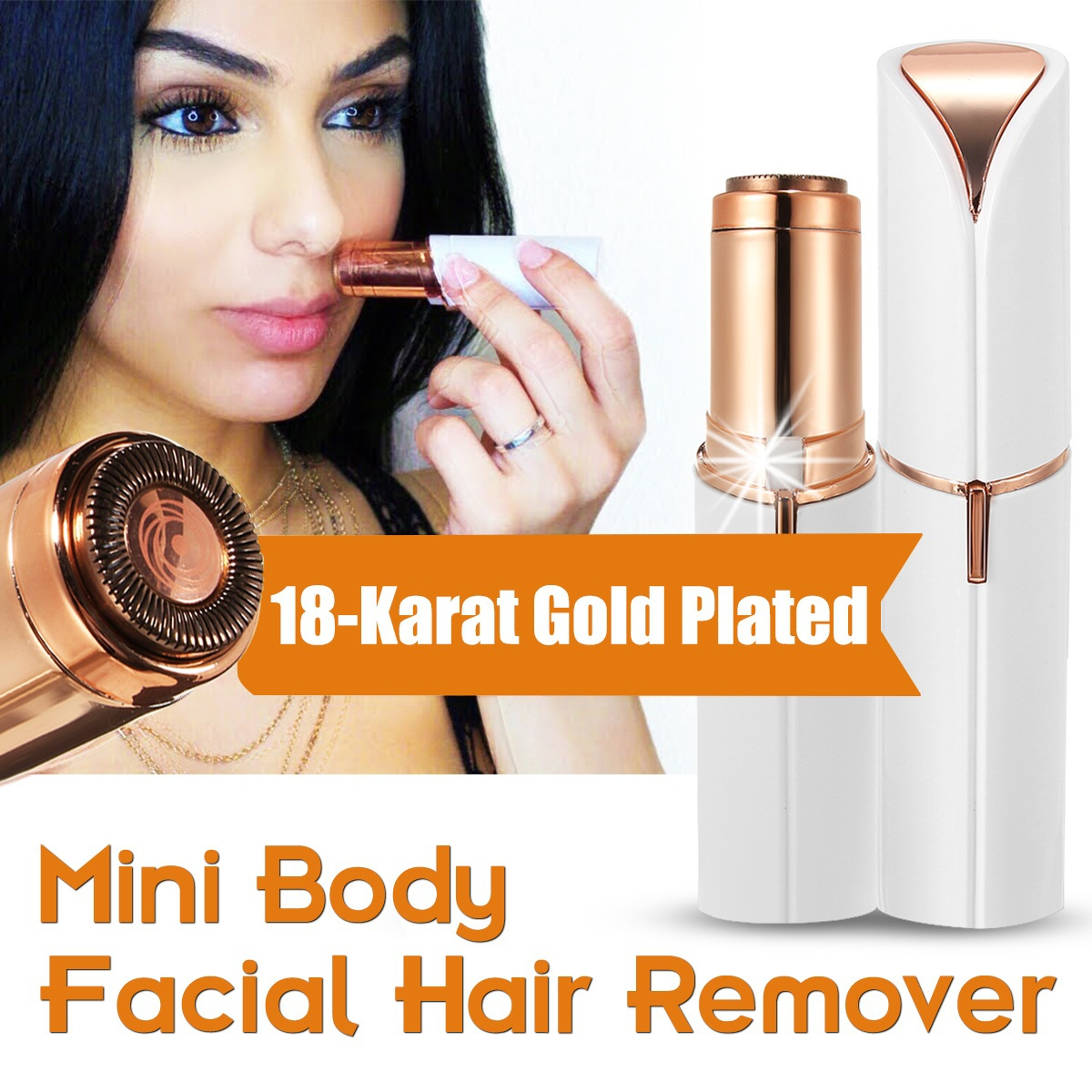 Epilator Electric Facial Hair Remover Shaver Personal Face Care Mini Painless Women Beauty Tools ...