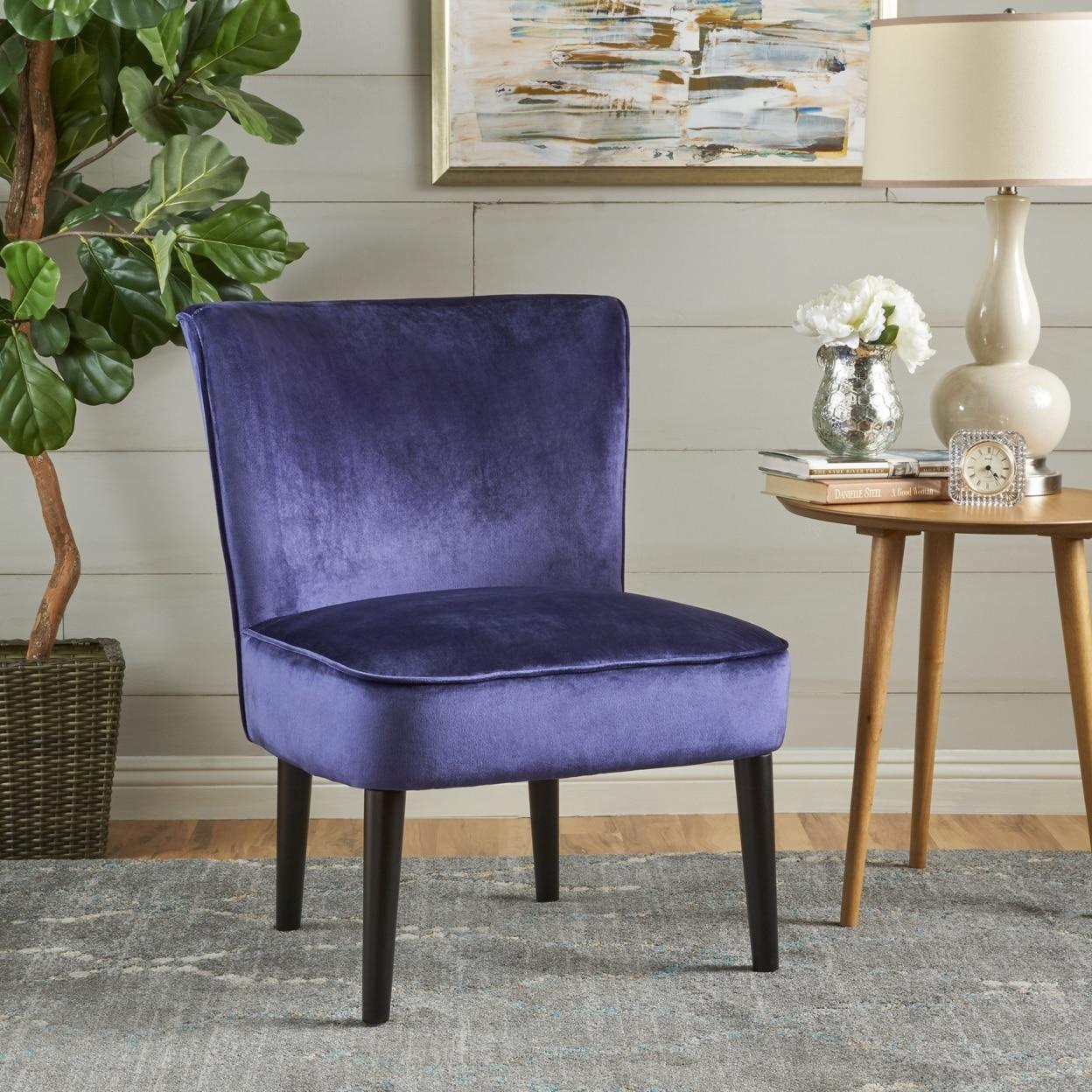 Petra Mid Century New Velvet Club Chair