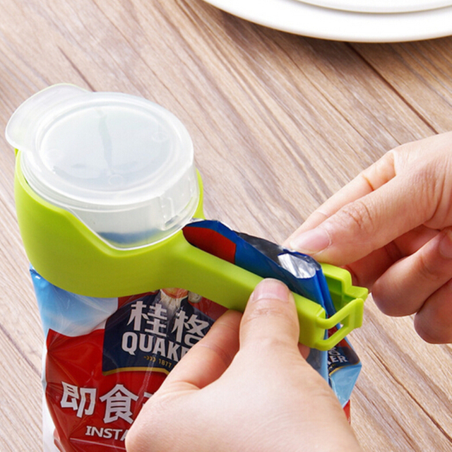 Seal And Pour Food Storage Bag Clip Fresh Keeping Plastic Clamp