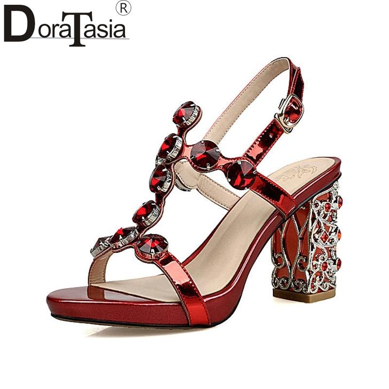 DoraTasia 2018 Verano Nueva Llegada de la Marca de Cuero Genuino - Zapatos de mujer