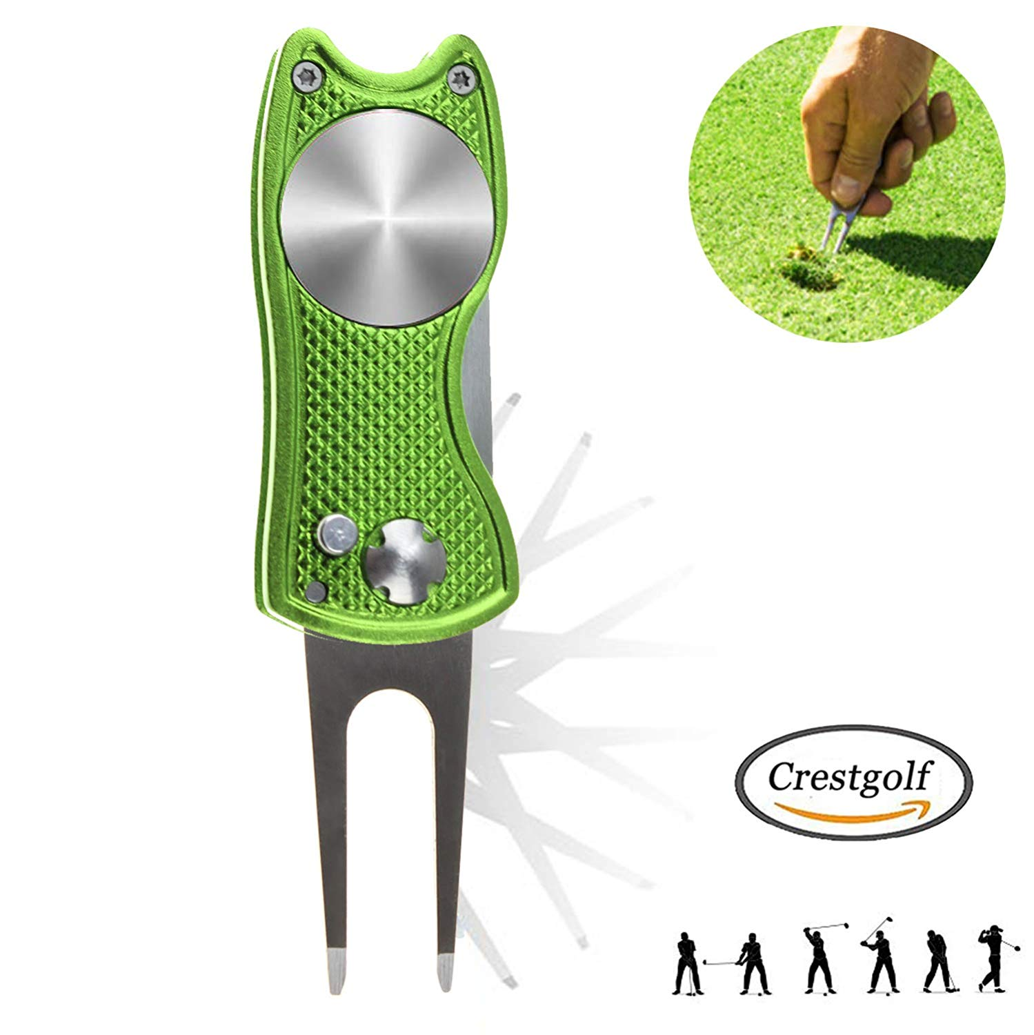 2pcs/pack Switchblade Golf Divot Tool Pitch / Choose Colors At Will / Arrive On Time / Golf Training Aids Tools Golf Accessories