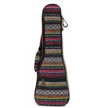 Cotton+Nylon Soft Padded Portable Guitar Gig Bag Ukulele Case Cover Backpack With Double Shoulder For 21 Inch Ukulele