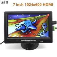 Full New 7 inch 1024*600 IPS Touch Monitor LCD Module with HDMI VGA AV Display Screen Raspberry Pi 3 Banana
